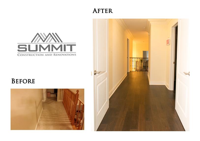 New flooring, installing hardwood floors instead of carpet