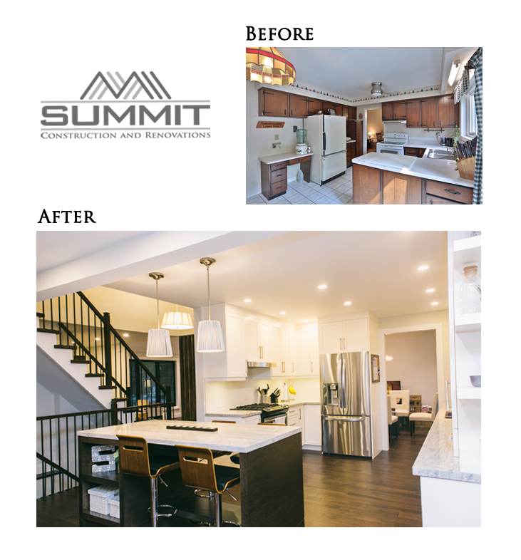 Complete kitchen makeover and space redesign